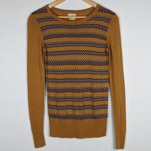 Urban Outfitters Mustard Gold Aztec Tribal Sweater